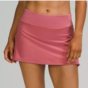 NWT Play Off The Pleats Mid Rise Skirt ROSE Pink 4